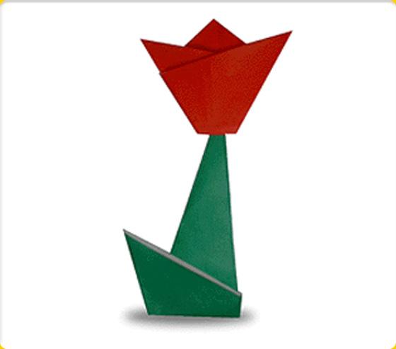 すべての折り紙 紙ナプキン 折り紙 : ... かんたん折り紙~いろんなお花