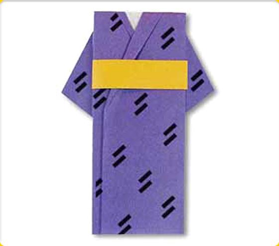 ゆかたとおび|洋服の折り紙