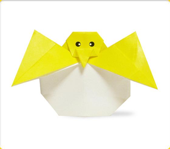 簡単 折り紙 折り紙 ひよこ : origami-mobile.com